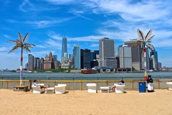 Water Taxi Beach, Governors Island, NYC